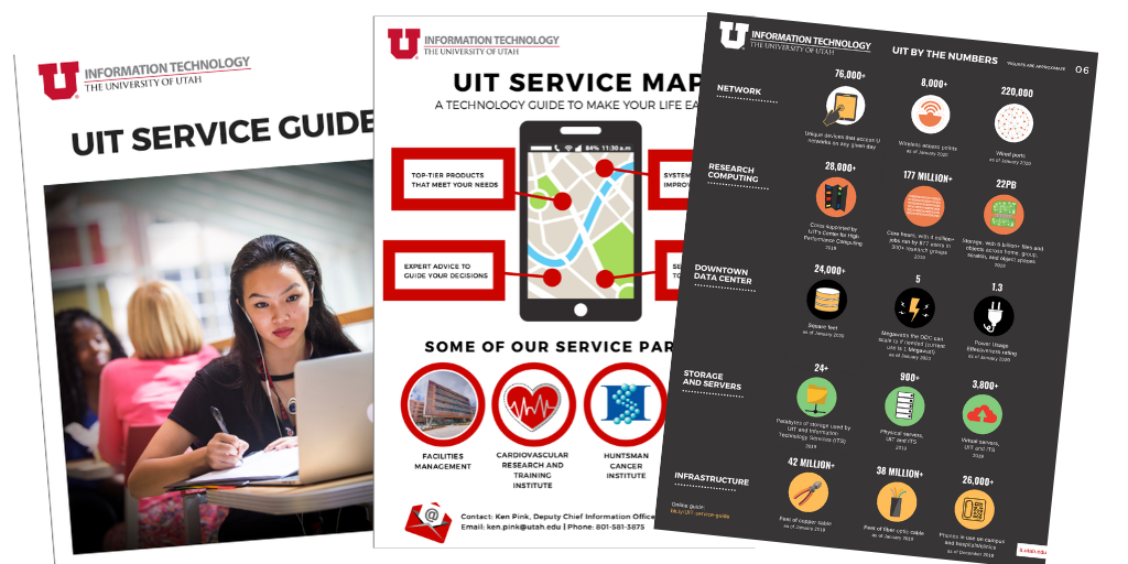 The UIT Service Guide PDF document provides a broadly representative look at UIT services and highlights how the organization supports its partners.