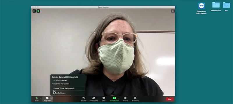 Holly Johnson, adjunct assistant professor in the College of Architecture + Planning, and the Department of Art & Art History, demonstrates how to set up a lecture recording using Kaltura Capture in this screenshot from a video tutorial.