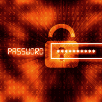 Graphic that says password and shows a lock and a password field partially filled in with protected info.