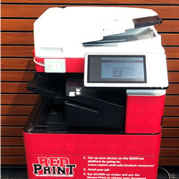 A RedPrint machine, part of the U's managed print solution